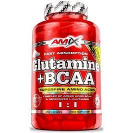 Amix Nutrition L-Glutamin + BCAA, 360cps